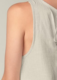 Detail back view Lace Detail Linen Dress