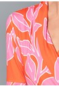 Detail front view Floral Wrap Top