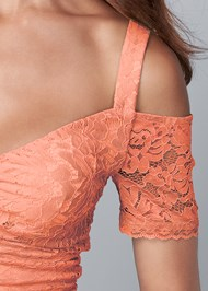 Alternate View Cold Shoulder Lace Top
