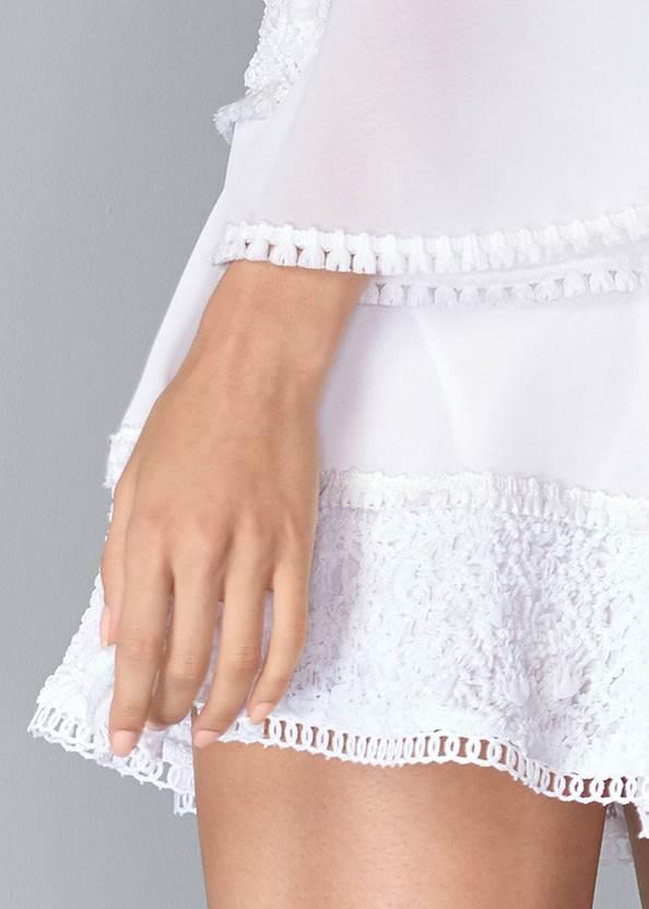 Alternate View Tiered Ruffle Chiffon Dress