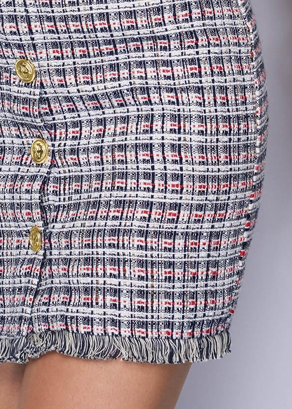 Detail front view Tweed Mini Dress