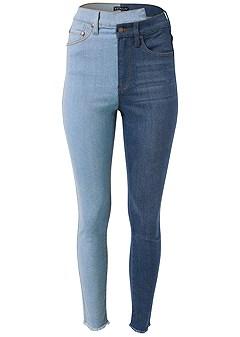 plus size duo tone jeans