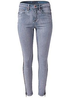 plus size side zipper jeans