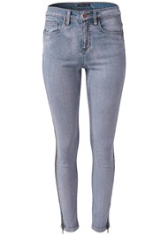 Ghost  view Side Zipper Jeans