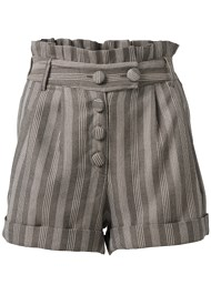 Ghost  view Striped Paperbag Shorts