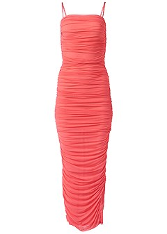 plus size ruched bodycon maxi dress
