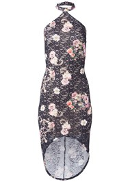 Ghost  view Floral Lace Bodycon Dress