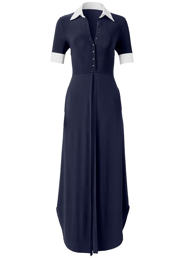 Ghost  view Collared Maxi Top