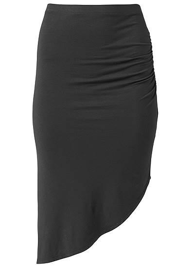 Plus Size Easy Midi Skirt