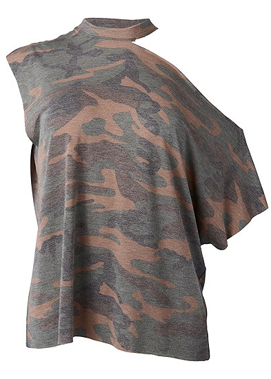 Plus Size Camo Lounge Top