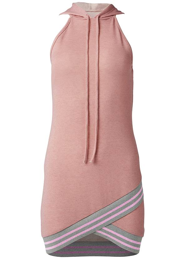 Ghost  view Hooded Detail Dress