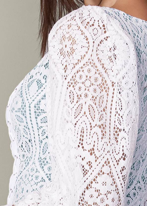 Detail back view Square Neck Lace Up Top