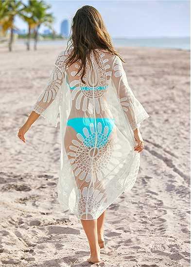 Lace Kimono Cover-Up