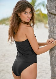 Back View Embroidered Tankini