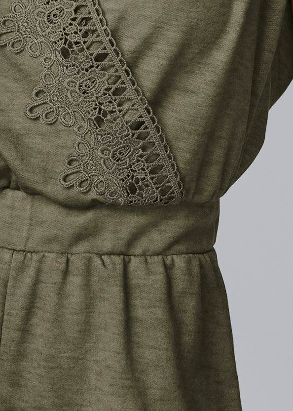 Alternate View Lace Detail Lounge Romper