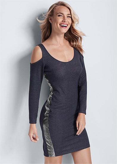 Sequin Stripe Lounge Dress