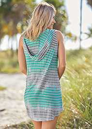 Back View Hooded Pocket Cover-Up