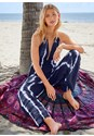Detail front view Tie Dye Cover-Up Jumpsuit