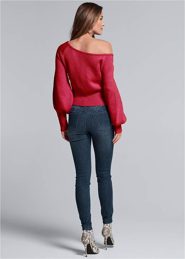 Full back view Eyelash Sweater