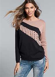 Cropped Front View Embellished Sweater