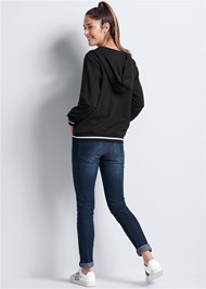 Back View Lace Up Sweatshirt