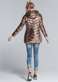 Back View Metallic Long Jacket