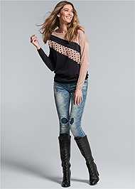 Front View Embellished Sweater