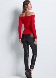 Back View Rhinestone Studded Sweater