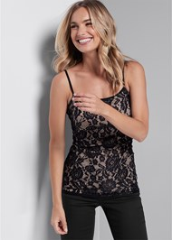 Cropped front view Lace Cami