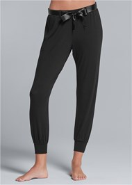Front View Belted Sleep Pants