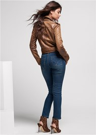 Back View Distressed Moto Jacket