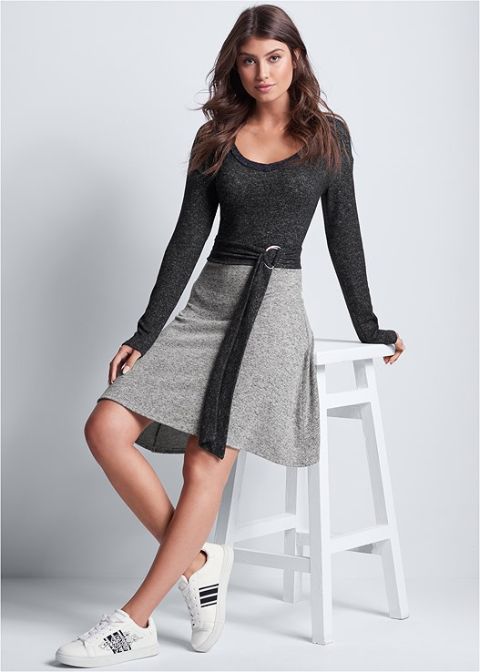 TWO TONE LOUNGE DRESS