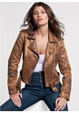 Front View Distressed Moto Jacket