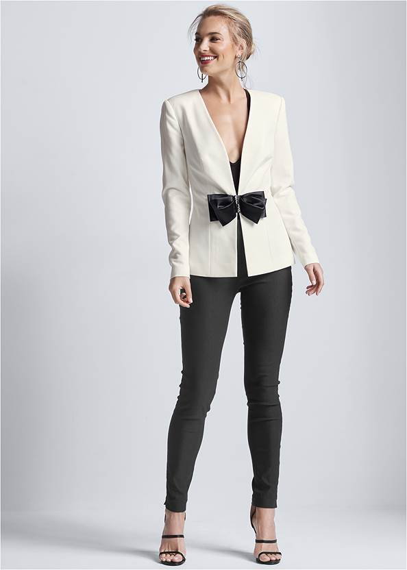 Full front view Bow Detail Blazer