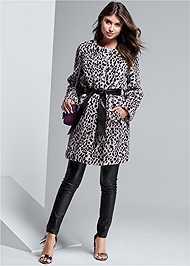 Alternate View Faux Fur Animal Print Coat