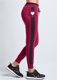 Waist down side view Heart Detail Joggers