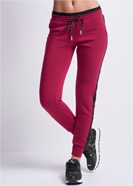 Waist down front view Heart Detail Joggers