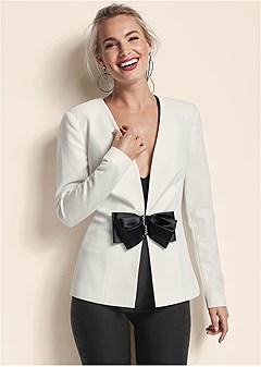 bow detail blazer
