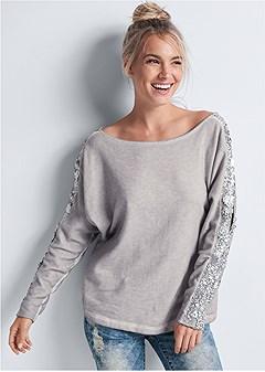sequin detail sweatshirt