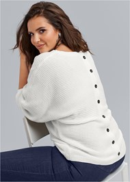 Front View Button Back Detail Sweater