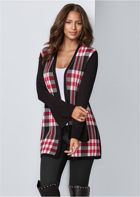 Plaid Cardigan,Lace Cami,Seamless Cami,Push Up Bra Buy 2 For $40,Slouchy Mid Calf Boots,Stud Detail Scarf