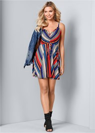 Alternate View Mixed Stripe Dress