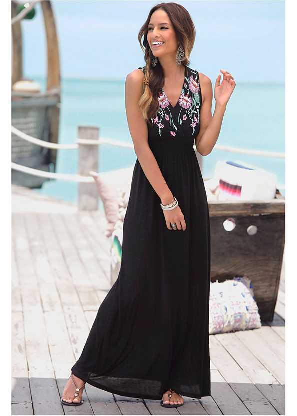 V-Neck Maxi Dress,Push Up Bra Buy 2 For $40,Woven Handbag