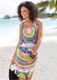 Front View Medallion Tank Dress