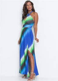 Front View Keyhole Maxi Dress