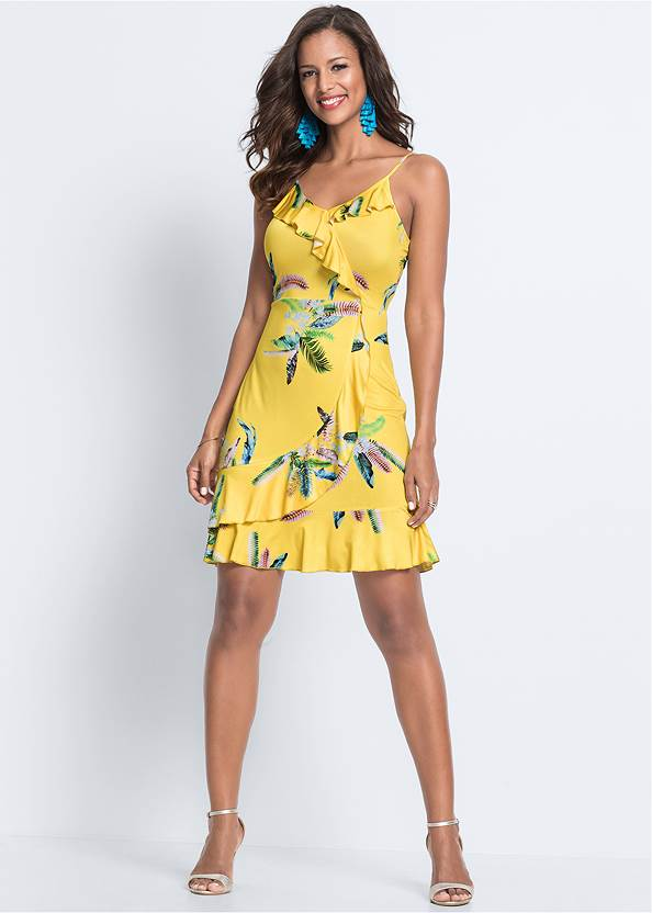 Alternate View Ruffle Detail Printed Dress