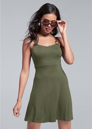 Cropped front view Tortoise Ring Dress