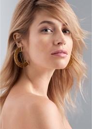 Alternate View Raffia Hoop Earrings