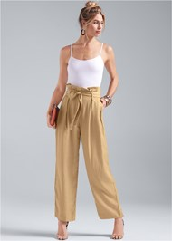 Front View Paperbag Waist Pants