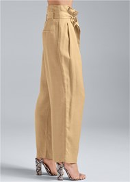 Waist down side view Paperbag Waist Pants